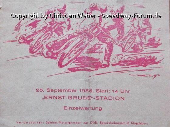 Magdeburg Speedway Programm 1955