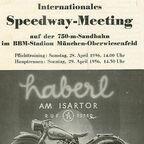 Programm vom Sandbahnrennen 1956 im BBM-Stadion in München-Oberwiesenfeld (heutiger Olympiapark)