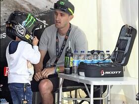 Chris Holder mit seinem 4-jährigen Sohn Max