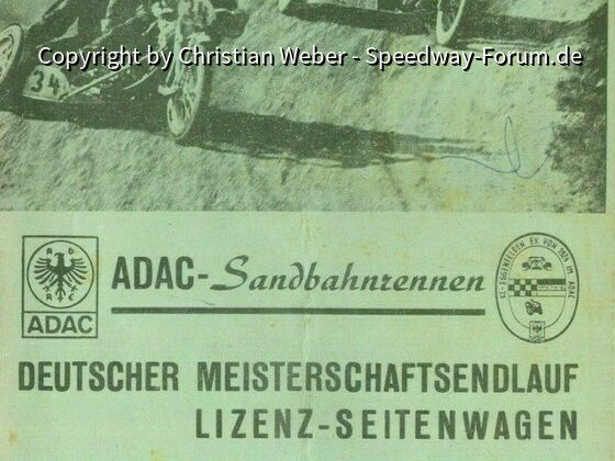 Programmheft Seitenwagen DM 1975 in Eggenfelden