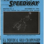 S.A. Individual Solo Championship. North Arm Speedway. December 27, 1991.