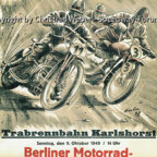 Programmheft Motorradrennen auf der Trabrennbahn Berlin-Karlshorst 1949