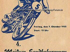 Programmheft vom 4. Meißner Sandbahnrennen am 7. Oktober 1955